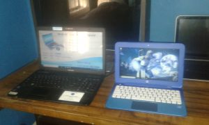2 Laptops Of Different Sizes